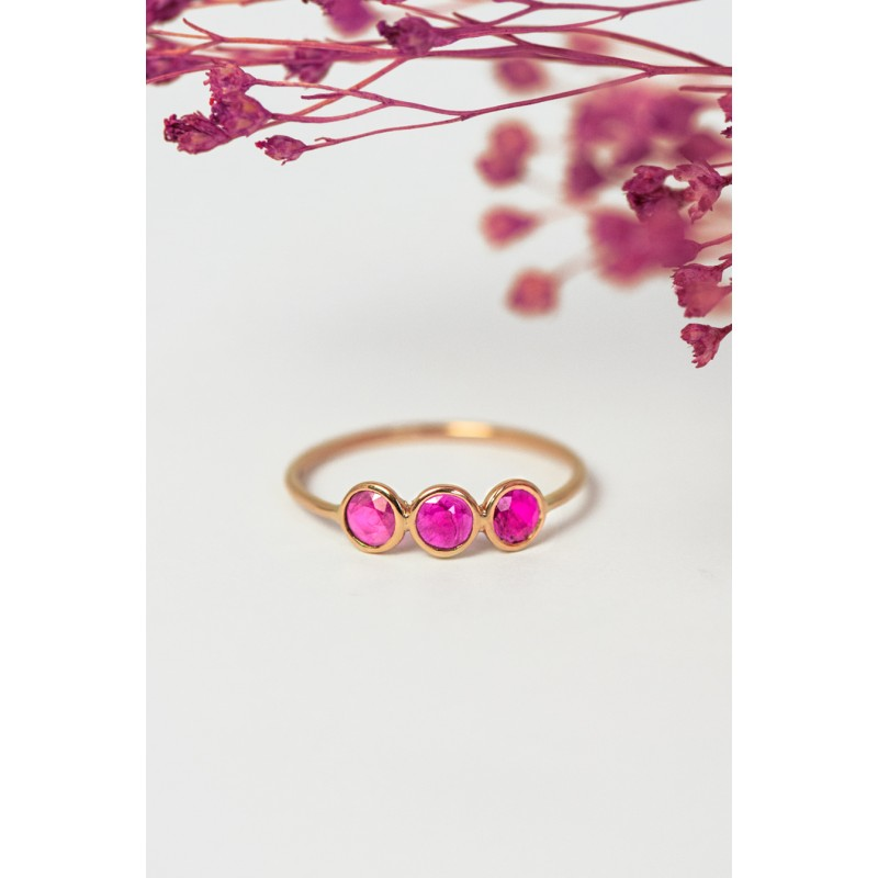 copy of Bague Mysore tourmalines roses ovales